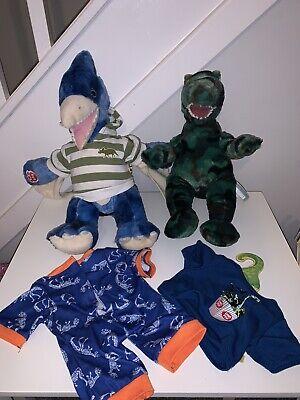 Build A Bear Dinosaur Camo T-rex And Pterodactyl - From Disney Springs BAB Dino