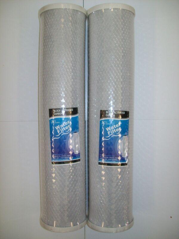 "BULK 20x Carbon Block Water Filters 5 Micron 10/"" x 2.5/"" 100/% Coconut Carbon 4-7"