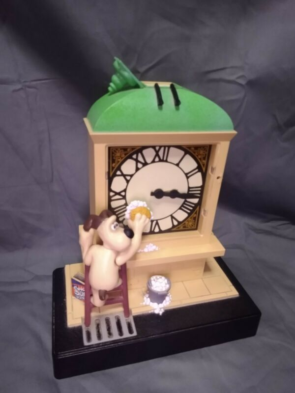 1998 Wesco Wallace & Gromit Mantle Clock w/ Sound Light Move Missing Characters
