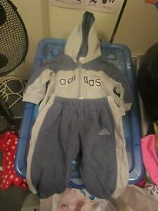 Baby Boys Size 00 Adidas Jacket & Pants (2 Piece Outfit)