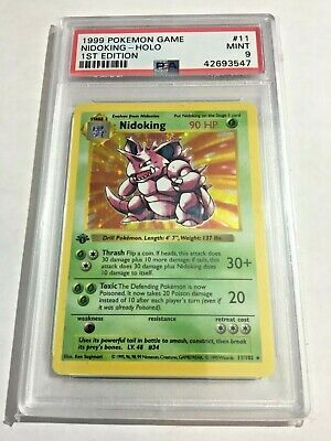 1999 Pokemon 1st Edition Base Set Shadowless Holo Nidoking 11/102 PSA 9
