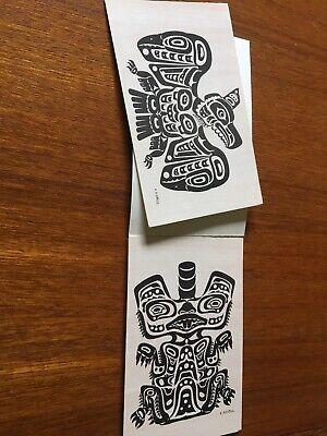 Pacific Northwest Coast Indian Totem motifs C. B. Greul Book Of 7 Postcards