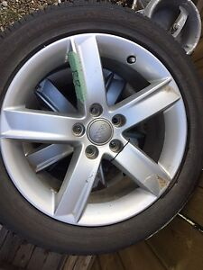 Audi rims with tires for sales