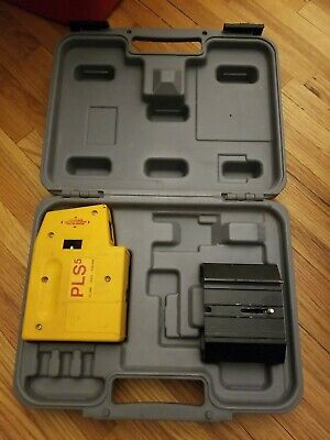 Pacific Laser Systems Pls 5 Laser Level Plumb Square W Hard Case Accesories