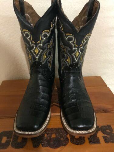 Mens, Rodeo, Cowboy, Caiman, Print, Cowboy, Square, Toe, Boots