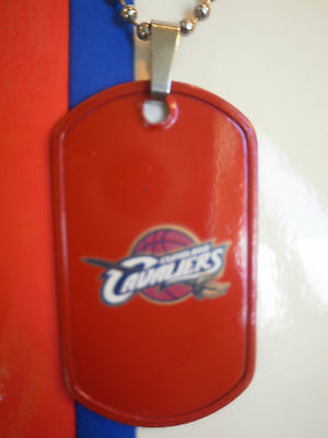 Cleveland Cavaliers Dogtag Necklace NBA Jewelry Lebron James Dog Tag Basketball