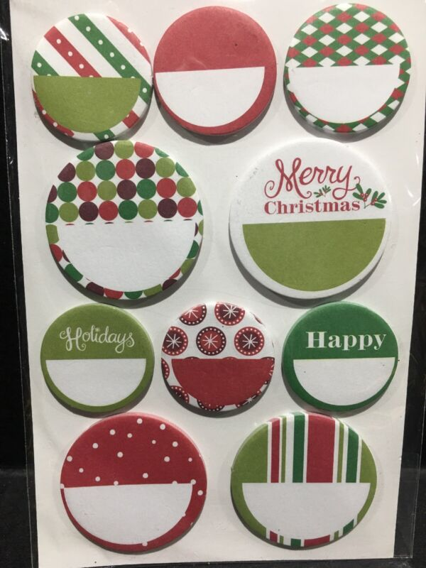 Christmas Planner Mini Sticky Notes 200 Pc New