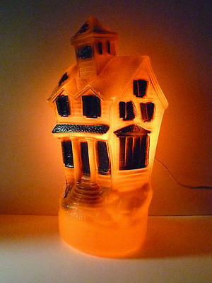 RARE Vintage Best Halloween Haunted House Blow Mold 1969 Empire Light Decoration