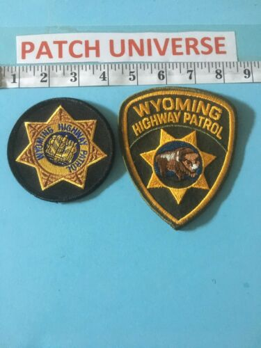 LOT OF 2 DIFFERENT WYOMING HIGHWAY PATROL  SHOULDER PATCHES  G065