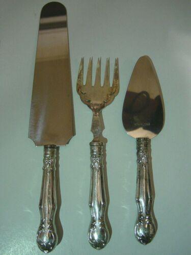 Vintage 3pc Ambassador Mfg. Co. Cutlery Serving Set w/Steel & Sterling Handles