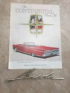 1959 Lincoln Badge and Ad