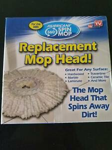 Hurricane 360 Spin Mop Replacement Head. Brand New $7