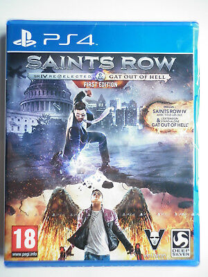 Saints Row IV Gat out of Hell + édition re elected Jeu Vidéo PS4 Playstation 4