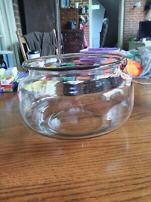 VINTAGE CLEAR ROUND GLASS TURTLE FISH BOWL TERRARIUM