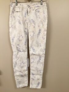 Beige Patterned American Eagle Stretch Jeans 00