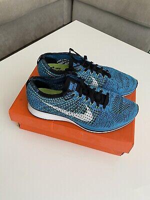 Nike Flyknit Racer (Blue/White/Black) UK 9