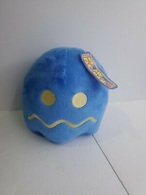 """Pac-Man Plush Ms Pacman Blue Ghost Stuffed Animal Toy 7"""" Toy Factory Round 1"""