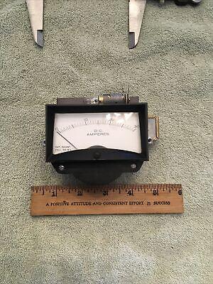 Vintage Radio Panel Meter Dc Amperes 0-30 Fs 50 Mv Ext. Shunt Me538