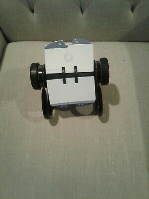 Rolodex Business Card File Black Slotted Cards Unused