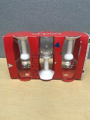 Bodum Oktett Red Wine Glass White 80s Vintage Glasses Set Of 3 Plastic Stem](Plastic Stem Wine Glasses)