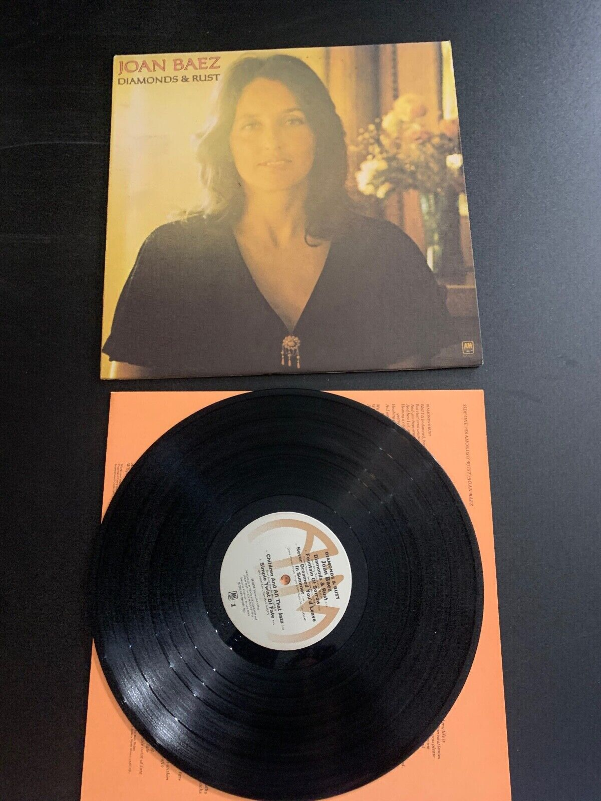 LP RECORD - JOAN BAEZ - DIAMONDS AND RUST - A M RECORDS  - $9.99