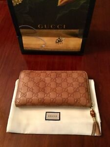 Gucci Guccissima Leather & Bamboo Wallet
