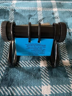 Vintage Rotary Rolodex Card File Black W Dividers Cards