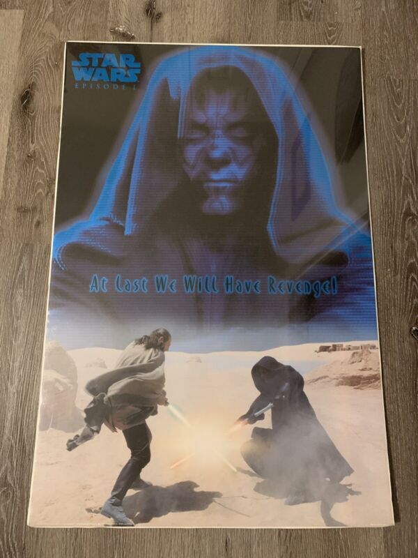 Star Wars Episode I Movie Poster 24x36 At Last We Will Have Revenge Litho  New