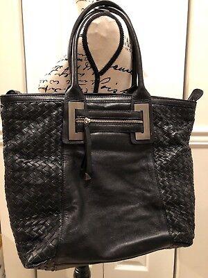 Beautiful Francesco Biasia Soft Woven Intrecciato Leather Bag Purse Tote ()