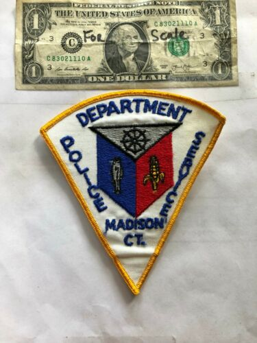Madison Connecticut Police Patch Un-sewn great shape
