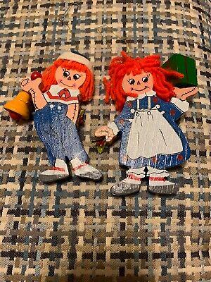 Kurt Adler Raggedy Andy resin puppet style ornament New
