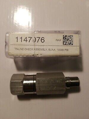 14 Inline Check Valve 10000psi Mxf Npt 316 Stainless Steel
