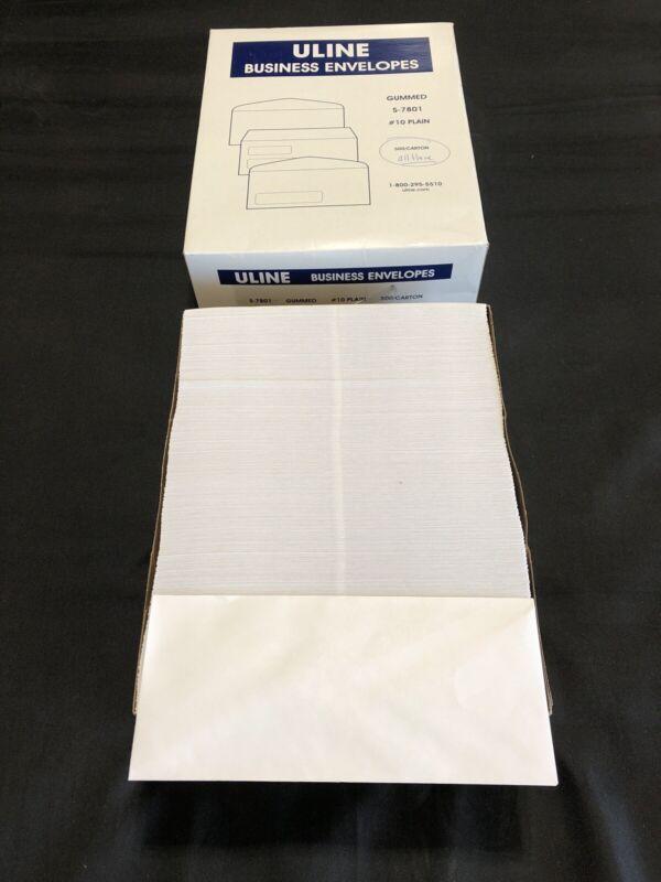 "Uline Business Envelopes Gummed S-7801 #10 Plain 1 BOX 500 Count 4 1⁄8"" x 9 1⁄2"""