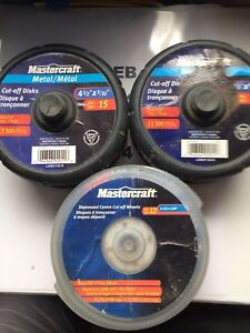 New unopened Mastercraft Metal Cuff-off Disc Canadian Tire