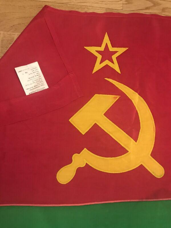 Authentic Big Flag Moldova Moldavian Soviet Socialist Republic USSR Vintage