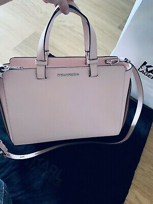 KARL LAGERFELD BAG Nude Dusky Pink ( Very Good Condition)