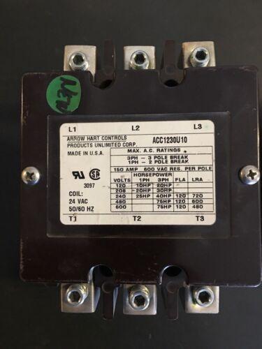 ACC1230U10  Arrow Hart Contactor 24VAC Coil NEW