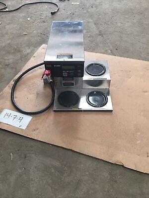 Automatic Commercial Coffee Brewer W 3 Lower Warmers Axiom 35-3 38700.0003 Bunn