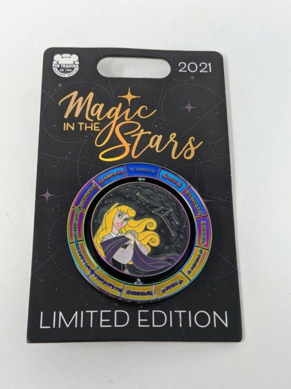 Aurora Sleeping Beauty Magic The Stars Virgo Disney LE Spinner Pin