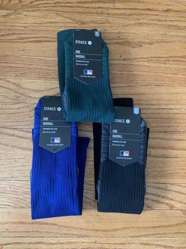 Brand New NWT LOT OF 3 Stance Diamond Pro OTC Baseball Socks - Youth Large