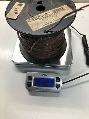 12 Thhn Stranded Wire Brown Partial Roll Approx 400 Ft. 8.78 Lbs Total