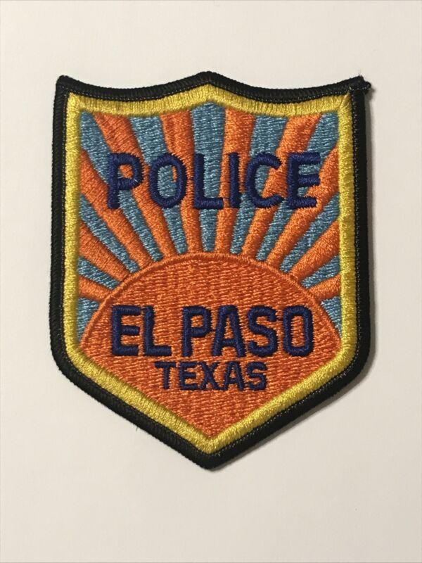 El Paso Texas Police Dept Patch TX Older