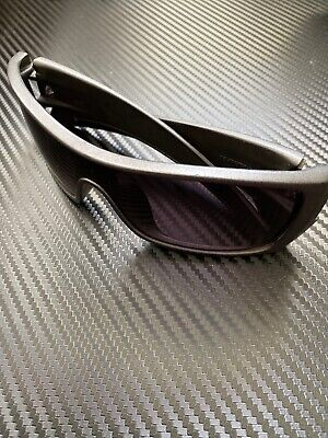 OAKLEY BATWOLF 009101-41 Matte Gray FRAME/BLACK LENS Green SUNGLASSES