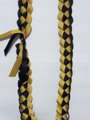 Graduation Ribbon Lei BLACK & GOLD/ Senior/ Class of 2021/ Perfect Grad Gift