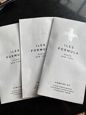 Iles Formula Sampler Kit Shampoo + Conditioner + Finishing Serum Brand New Seale