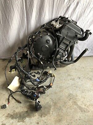 2009-2014 09-14 YAMAHA YZF R1 YZFR1 ENGINE MOTOR WITH GOOD HARNESS 12,940 MILES