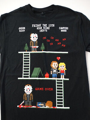 Friday the 13th Horror Movie Jason Voorhees Pixel Story T-Shirt