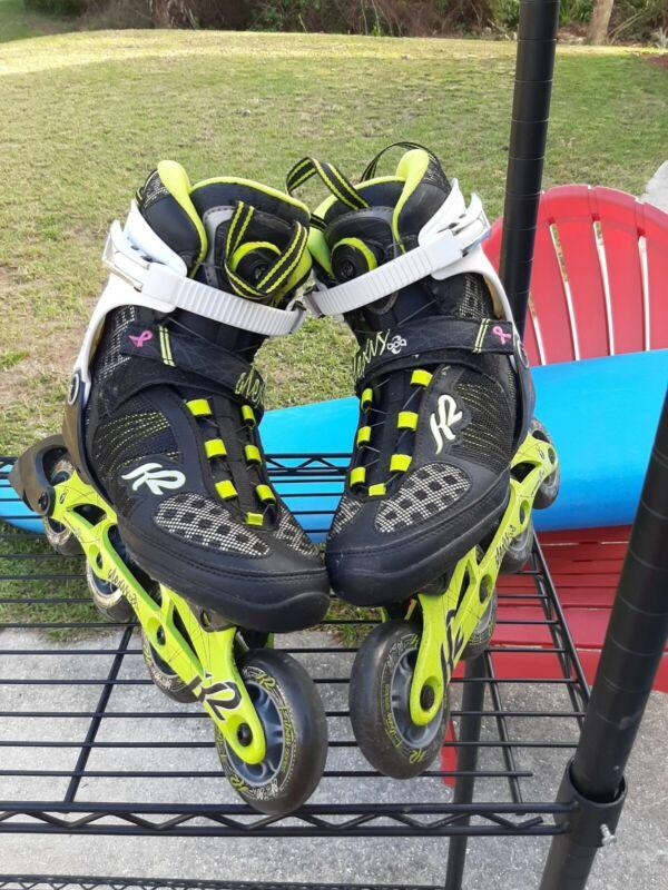 K2 Alexis BOA Inline Skates Roller Blades Women's Size 9 Excellent Shape