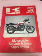 Genuine Kawasaki Z400F,Z500F,Z550F,GPZ550 Sup Service Manual 1984 Pallarenda Townsville City Preview