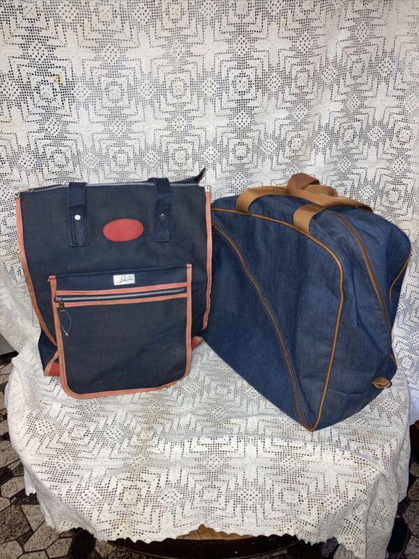 Vintage Athalon ski boot bag and Skyway bag